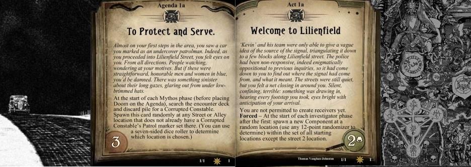 Fan created adventure for Arkham Horror LCG