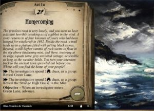 Fan created adventure for Arkham Horror LCG
